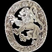 Vintage Iona Celtic Sterling Brooch Lion Rampart Scotland