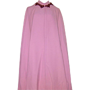 Vintage Couture Balestra Roma Cape Dress Italian Ensemble