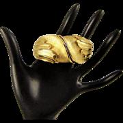 Vintage Tortolani Clamper Bracelet Gold Plated