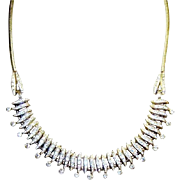 Vintage Deco Esha Randel Necklace Machine Age German Diamante Rhinestones