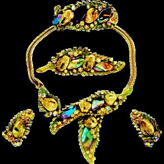 Vintage Har Dragon Tooth Necklace Bracelet Brooch Earrings Set