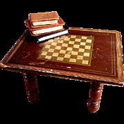 Biedermeier Large Dollhouse-Scale Chess Table