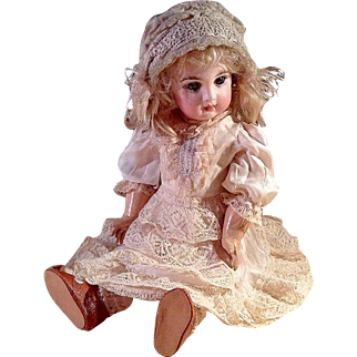 Lovely Vintage Silk Dress For French or German Doll