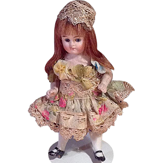 Sweet Kestner Dollhouse Girl