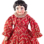 Pretty cabinet-sized 1880s China head Doll