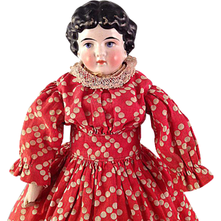 Pretty cabinet-sized 1880s China head Doll