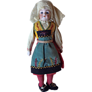 "8"" German doll in regional costume"
