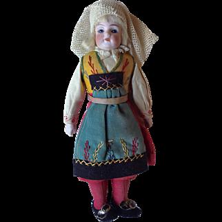 """8"""" German doll in regional costume"""