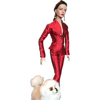 Red Holiday Luxe Boutique Pantsuit by Tonner