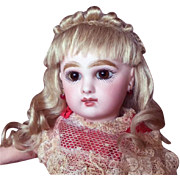 Size 7-inch Hand-Wefted French Style Mohair Doll Wig