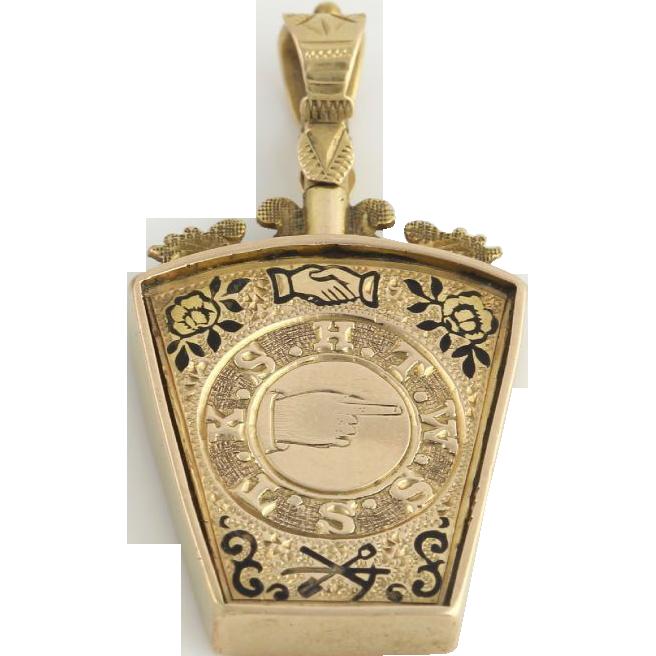 c 1886 royal arch keystone masonic fob 9k yellow gold