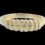 Diamond Anniversary Band - 14k Yellow Gold Natural 1/4ctw Estate Wedding Ring
