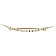 Edwardian Seed Pearl Brooch - 14k Yellow Gold & Platinum Circa 1900s - 1910s
