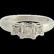 Diamond Engagement Ring - 10k White Gold Size 7 Polished Genuine .25ctw