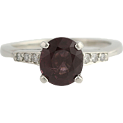 Vintage Spinel & Diamond Ring - Platinum Women's Size 8 Polished Genuine 2.37ctw