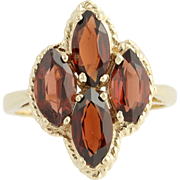 Garnet Ring - 10k Yellow Gold January Birthstone 2.40ctw