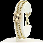 """Victorian Slide Bracelet 7 1/2"""" - 14k Yellow Gold & Gold Filled Antique"""