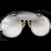 14k Gold Antique Folding Eye Glasses