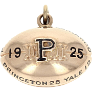 1925 Princeton University Tigers Fob - 14k Gold Vintage College Football Pendant