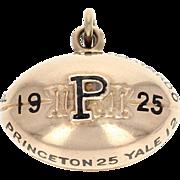 1925 Princeton University Tigers Fob - 14k Gold Vintage College Football Pendant