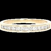 Diamond Wedding Band - 14k Yellow Gold Channel Set Ring Round Cut .54ctw