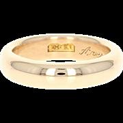 Antique Wedding Band - 18k Yellow Gold 1911 Women's Ring Size 7 - 7 1/4