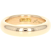 Antique Wedding Band - 18k Yellow Gold 1911 Women's Ring Size 7 - 7 1/4