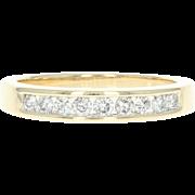 Diamond Wedding Band - 14k Yellow Gold Women's Ring Round Brilliant .30ctw