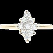 Diamond Cluster Ring - 14k Yellow Gold Round Brilliant Cut .27ctw
