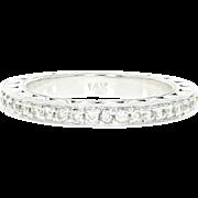 Diamond Eternity Band -14k Gold Wedding Anniversary Ring Size 6 1/2 Round .70ctw