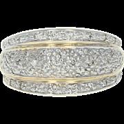 Diamond Dome Ring - 14k Yellow Gold Size 7 Round Brilliant .26ctw