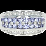 Tanzanite & Diamond Ring - 14k White Gold Round Brilliant 1.80ctw