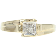 Diamond-Accented Bypass Ring - 10k Yellow Gold Illusion Solitaire