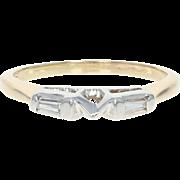 Diamond Enhancer Wedding Band - 14k Gold Guard Ring Baguette .10ctw