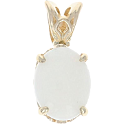 Opal Solitaire Pendant - 14k Yellow Gold Cabochon .94ct