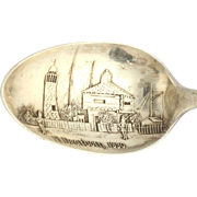 Ft Dearborn Chicago Illinois Souvenir Spoon - Sterling Silver Vintage Collectors