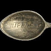 Philippines Souvenir Spoon - Sterling Silver Vintage Collectors Warrior Asian