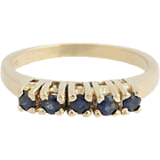 Sapphire Ring - 14k Yellow Gold September Women's Size 6 Polished Genuine .55ctw