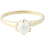 Cultured Pearl Ring - 10k Yellow Gold 5.4mm