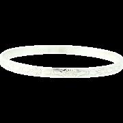 Vintage Beau Bangle Bracelet - Sterling Silver Textured Keepsake
