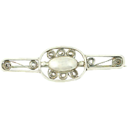 Norwegian Brooch - 830S Silver Ornate Pin European Antique