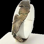 "Vintage Airman's Bracelet 7"" - Sterling Silver Capt. Gust A. Falk U.S. Air Force"