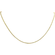 "Popcorn Chain Necklace 15"" - 14k Yellow Gold Fine Estate Lobster Claw Clasp"