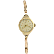 Vintage Pioneer Wristwatch - 9k Yellow Gold Made in England Swiss Movement Runs