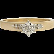 Diamond Engagement Ring & Wedding Band - 10k Yellow & White Gold Fine .07ctw