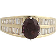 Spinel & Diamond Cocktail Ring - 14k Yellow & White Gold Genuine 2.46ctw