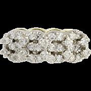Vintage Diamond Ring - 14k Yellow & White Gold 3 1/4 - 3 1/2 Genuine 1.00ctw