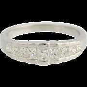 Princess Cut Diamond Ring - 14k White Gold Wedding Anniversary .60ctw