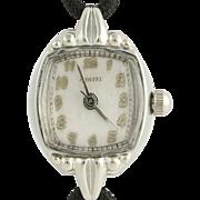 Vintage Harvel Wristwatch - 10k White Gold Filled Quartz Conversion Women's