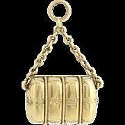 Victorian Era Locket - 15k Yellow Gold Etched Antique Keepsake